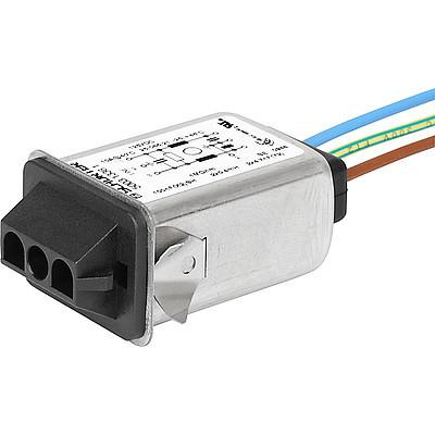 5003 Snap-in mounting with wires  stranded  AMP Universal MATE-N-LOK or MOLEX MLX en IM0010612